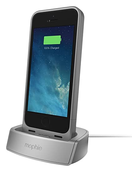 huge discount 2d42a fe19d mophie 2305 Juice Pack Dock for iPhone 5/5s/SE - Silver