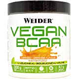 JOE WEIDER VICTORY Vegan BCAA 2:1:1 Mango-Naranja 100% vegano. 300 Gr. 8,7g de BCAA por dosis. Sin grasas, sin azúcares
