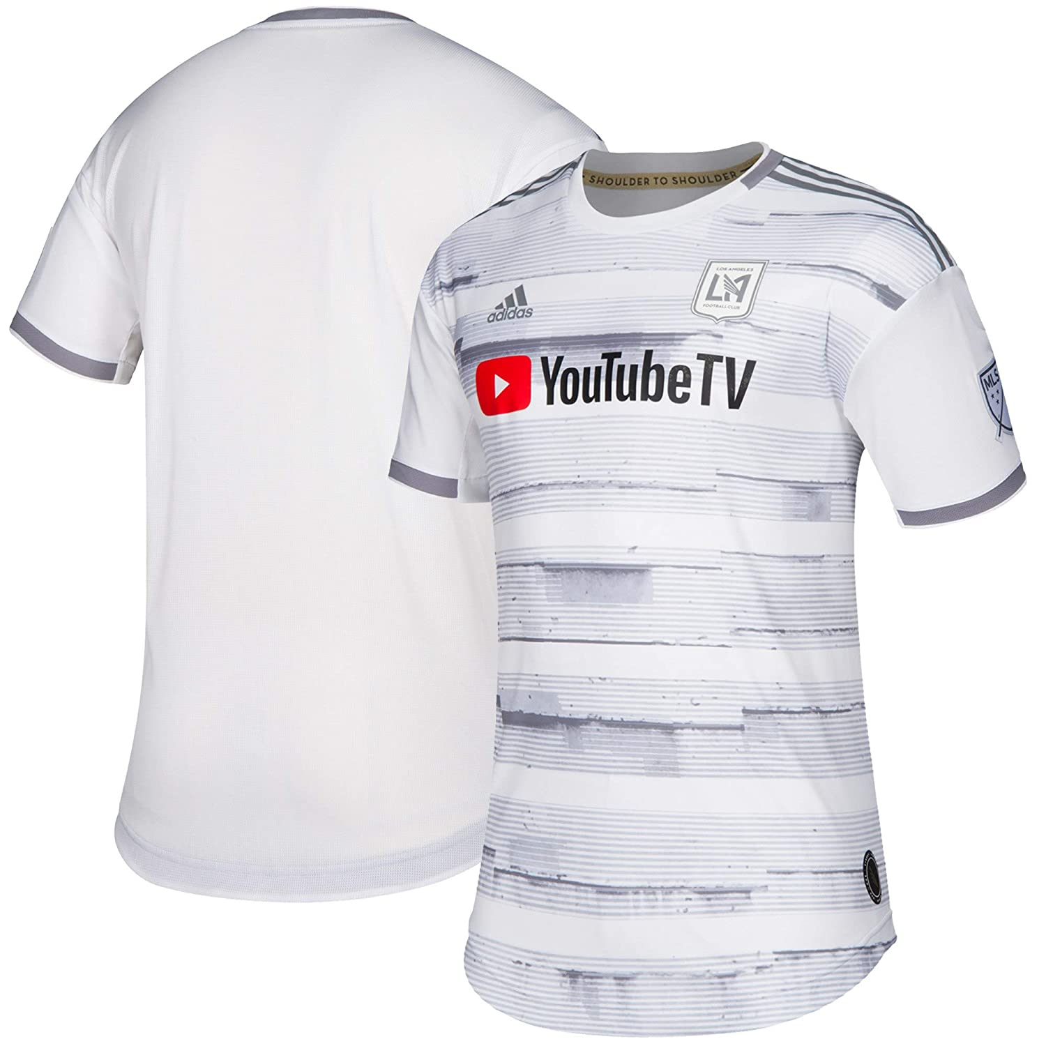 huge selection of 34b92 34365 Amazon.com  adidas 2019 2020 LAFC Los Angeles FC Away Authentic Jersey  Medium White Gray  Clothing