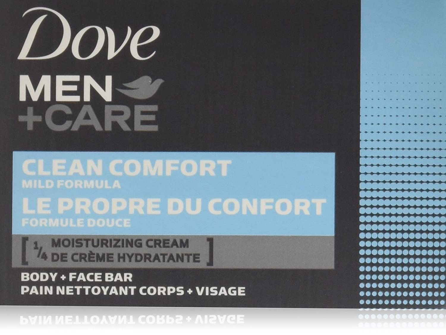 Dove Men+Care Body and Face Bar, Clean Comfort 4 oz, 24 BARS
