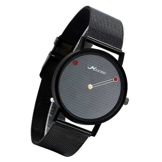 Lancardo Reloj Analógico de Movimiento Cuarzo Dial sin Números Pulsera Electrónica con Correa de Acero Inoxidable