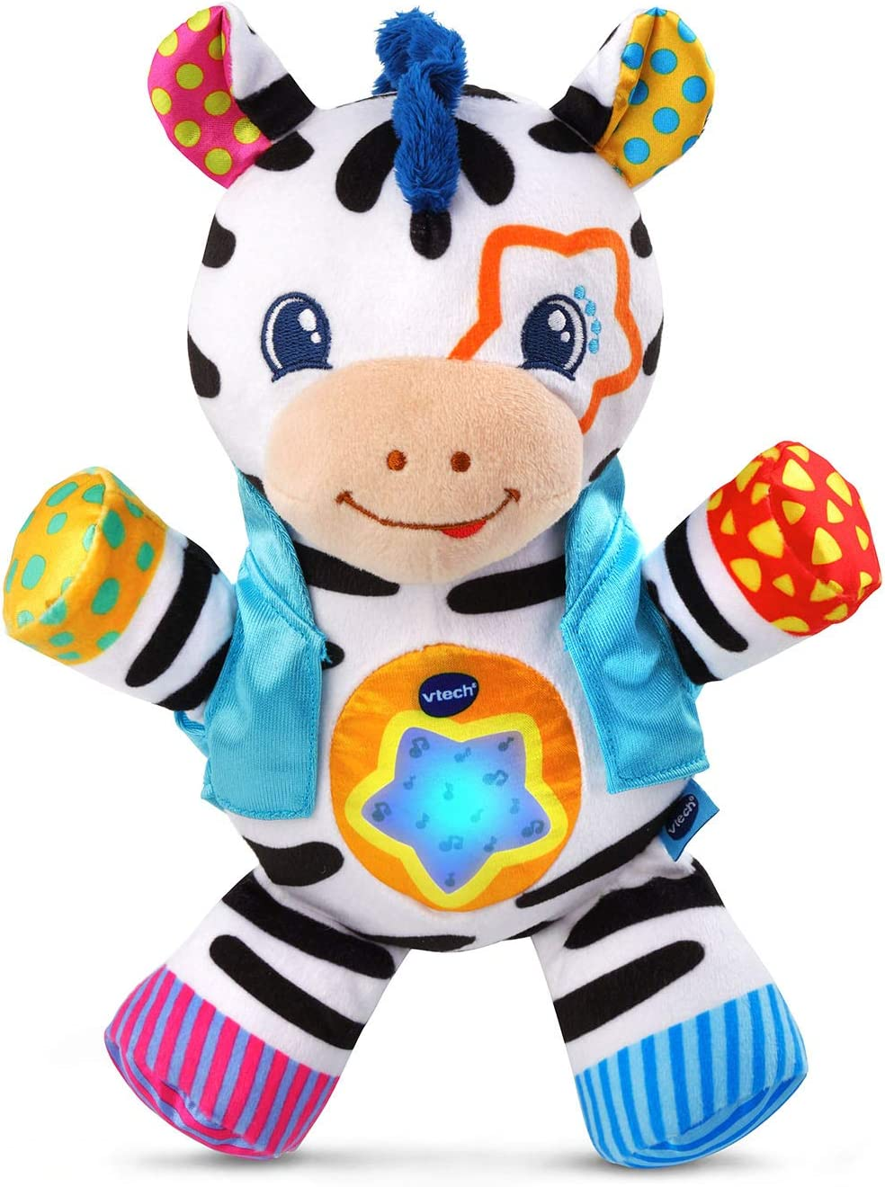 VTech Lights & Stripes Zebra, Multicolor, Great Gift for Kids, Toddlers, Toy for Boys and Girls, Ages Infant, 1, 2