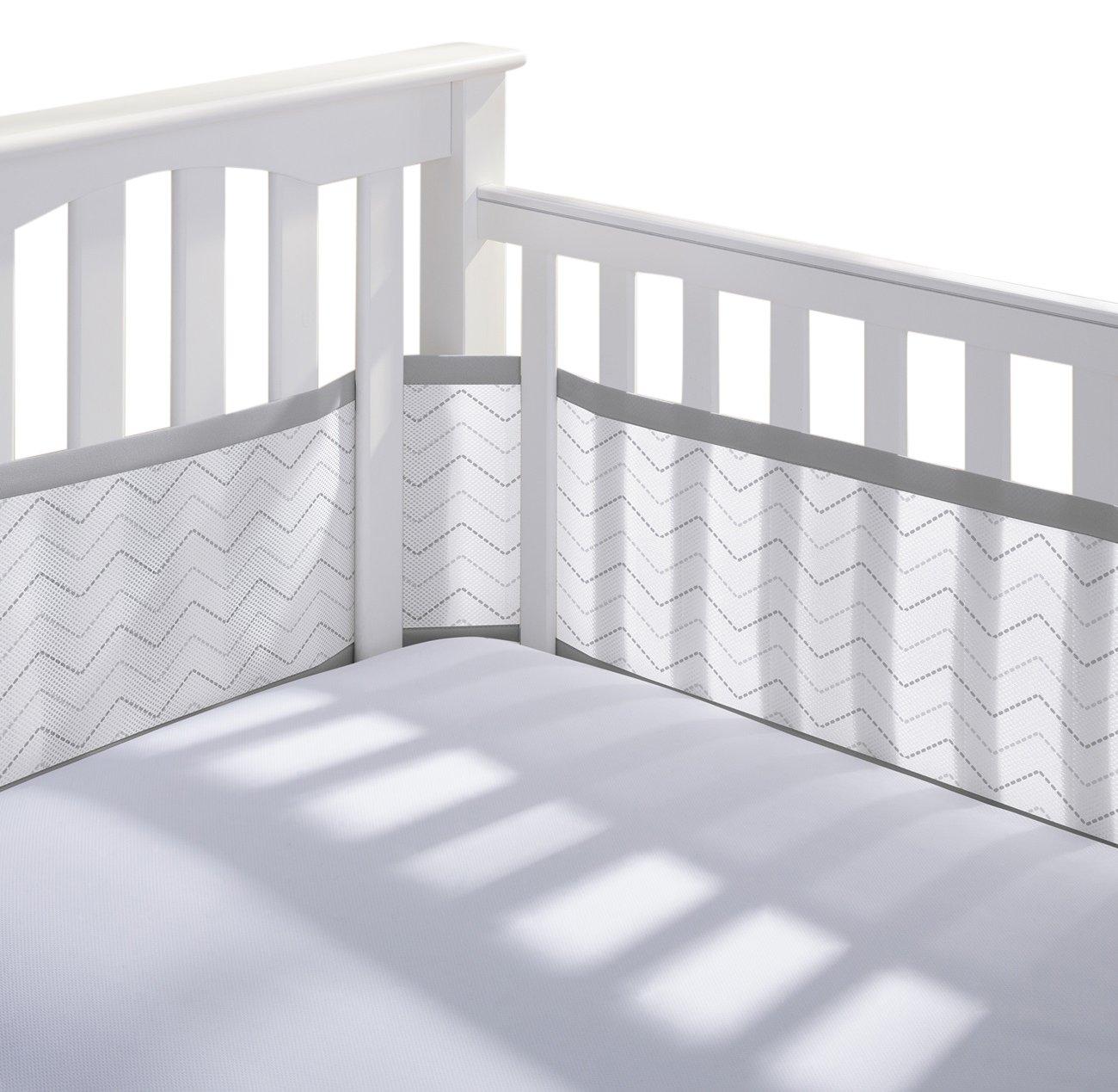 Breathable Baby Mesh Crib Liner, White CAUQ25160
