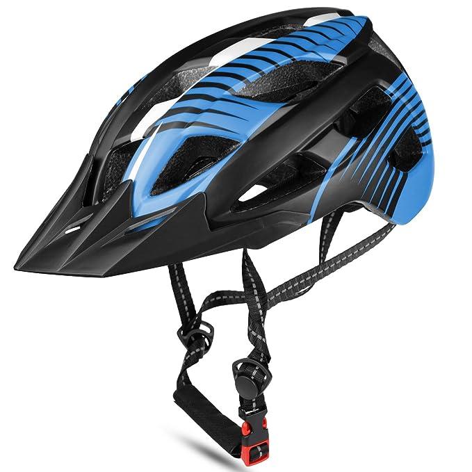 acd1c94cb67da Amazon.com   Basecamp Bike Helmet CPSC Safety Standard with Detachable Visor  Shield for Men Women Road   Mountain Biking Bicycle Helmet Skateboarding  Ski ...