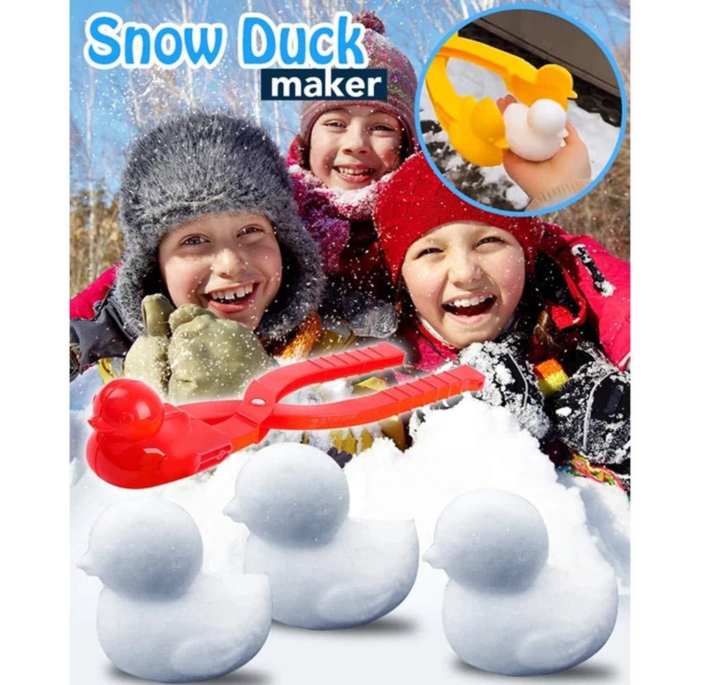 Winter Schnee Scoop Clip Schneeball Maker Ente Form Schneeballmacher Winter Schnee Scoop Clip 4 PCS Profi-Schneeballzange Kinder Spielzeug Schnee Scoop Maker Ente Snowball Maker