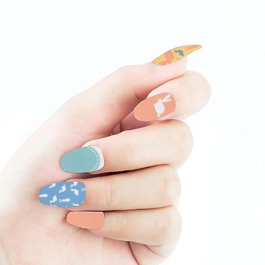 Beashine Accesorio para uñas, 14 Pegatina de uñas, Nail Art Tip ...