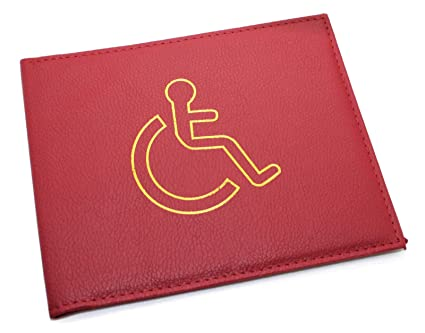 High-Quality Disabled Parking Permit Holders Red