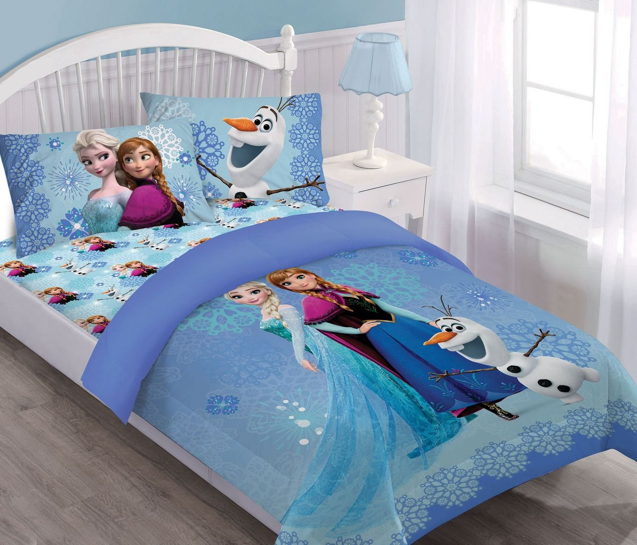 Disney Frozen Springtime Frost Full Comforter Set with Fitted Sheet