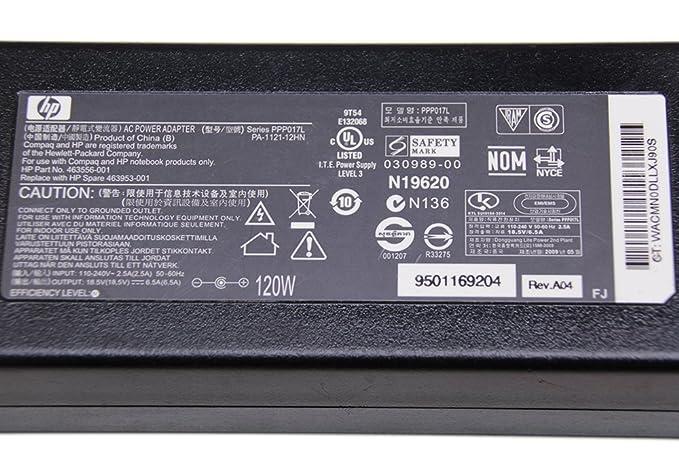 Amazon.com: 120 W Cargador para HP Pavilion DV6 DV7 Series ...