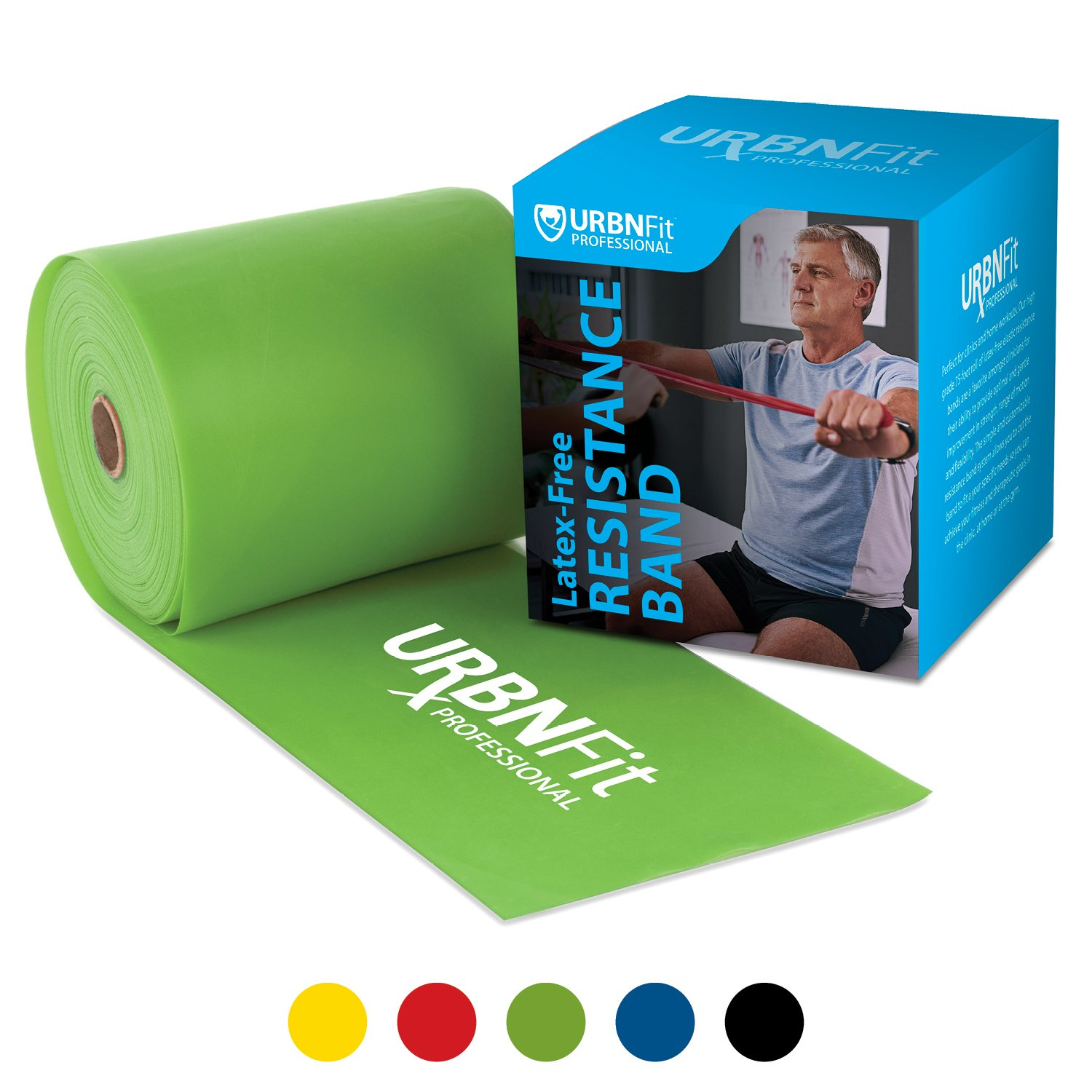 Professional Resistance Bands - 25 Yards (75ft) Latex-Free Elastic Exercise Fitness Band Roll - No Scent, No Powder - Perfect for Physical Therapy & Rehab, Yoga, Pilates