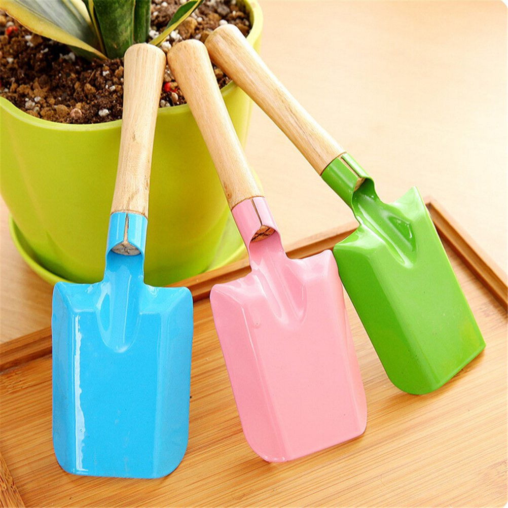 Amazon.com : WarmShine 2 PCS Garden Metal Planting Small Square Shovel Flower Soil Planting Digging Spade Tool Colorful Garden Hand Shovel, 7.9 x 2.6inch, ...