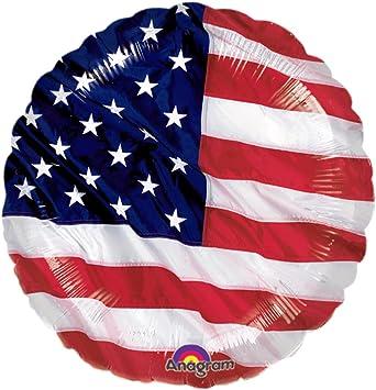 globo de plástico bandera EEUU Bola para hinchar fiesta temática americana diseño Estados Unidos Globos para hinchar Balón de aire cumpleaños artículos decorativos banderola USA Balones inflables: Amazon.es: Juguetes y juegos