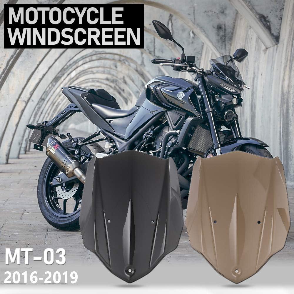 Brown LJBusRoll Double Bubble Windshield For Yamaha MT 03 MT-03 MT03 2016 2017 2018 2019 Windscreen Screen Wind Deflectors 16-19 Accessories
