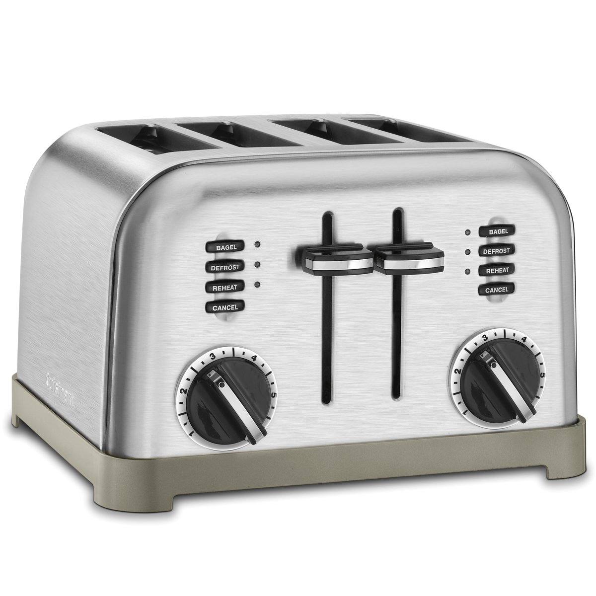 cuisinart cpt 180 metal classic 4 slice toaster brushed stainless cpt 180c. Black Bedroom Furniture Sets. Home Design Ideas