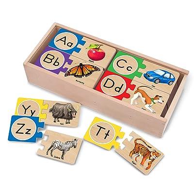 Melissa & Doug Self-Correcting Letter Puzzles: Melissa & Doug, , 2541: Toys & Games