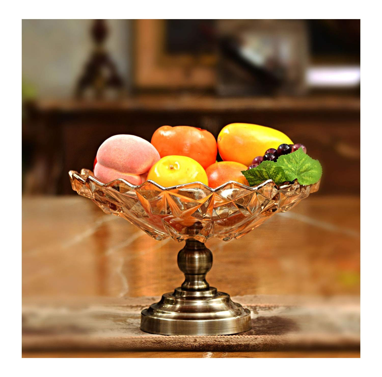 フルーツバスケット- ガラスフルーツプレート人格クリエイティブヨーロッパ古典クリスタルフルーツプレートガラス工芸家の装飾装飾用品 WPQW   B07RBMD5WT