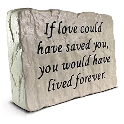 RocksOnly If Love Could Have Saved You - Memorial Stone (7.8 LB) : Garden & Outdoor