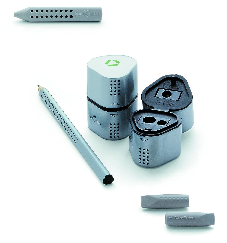 Faber-Castell GRIP 2001 Starter Kit con 12 117000 GRIP 2001 matite HB / 1 183.800 GRIP 2001 Trio temperamatite / 1 187000 2001 Radierkappe 300030