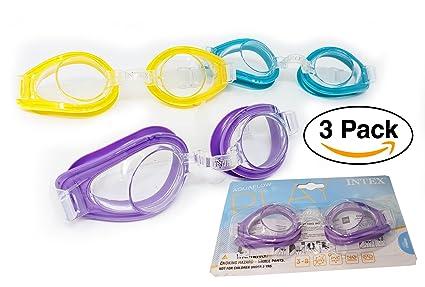 d169781d51 Amazon.com   Intex Pool Swim Goggles Kids (3 Pack)   Sports   Outdoors