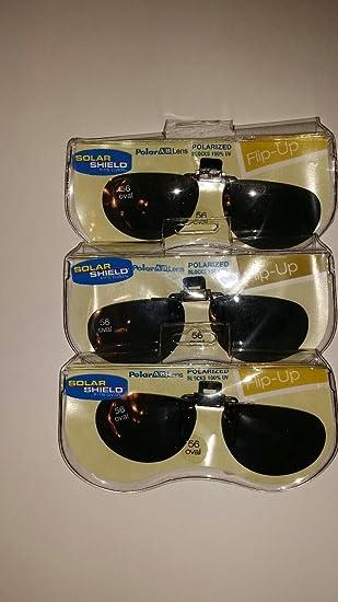 Amazon.com: 3 par 56 oval Solar escudo flip-up polarizadas ...
