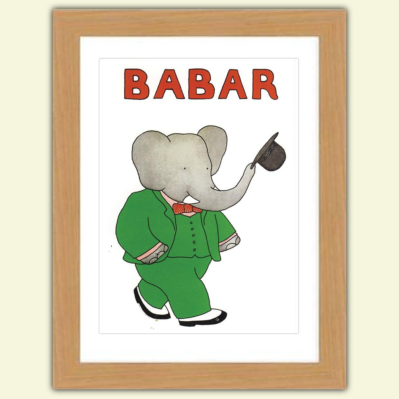 Babar The Elephant Print size 29.7 x 42.0 cms No.3