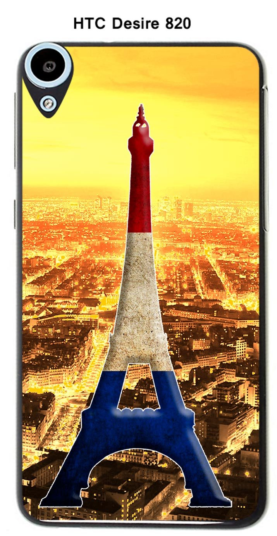 Onozo Carcasa HTC Desire 820 Design París Torre Azul Blanco ...