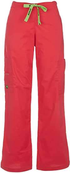 e84be3e2085 Image Unavailable. Image not available for. Colour: Crocs Medical Karla  Solid Cargo Scrub Pants-X-Large Pink
