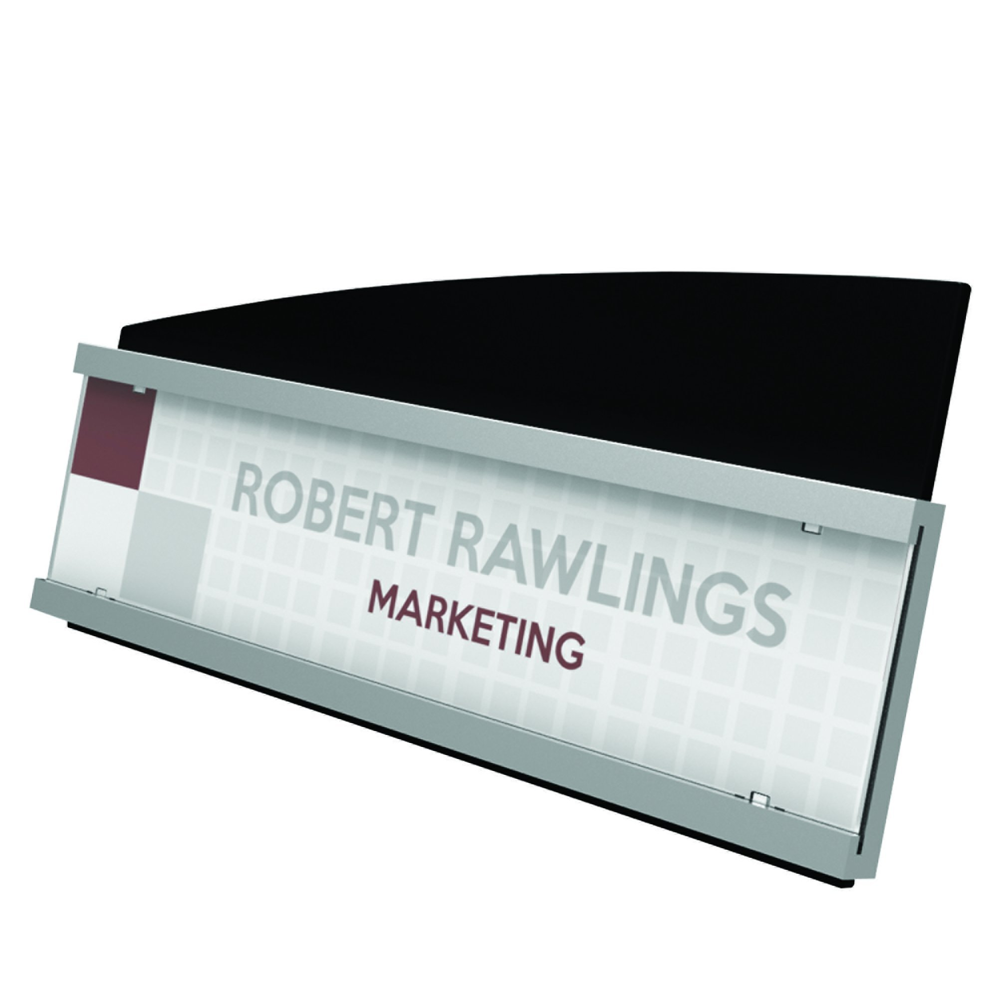 Deflecto Interior Image Sign Holder, 8.5 x 2 Inches, Nameplate (89105) by Deflecto