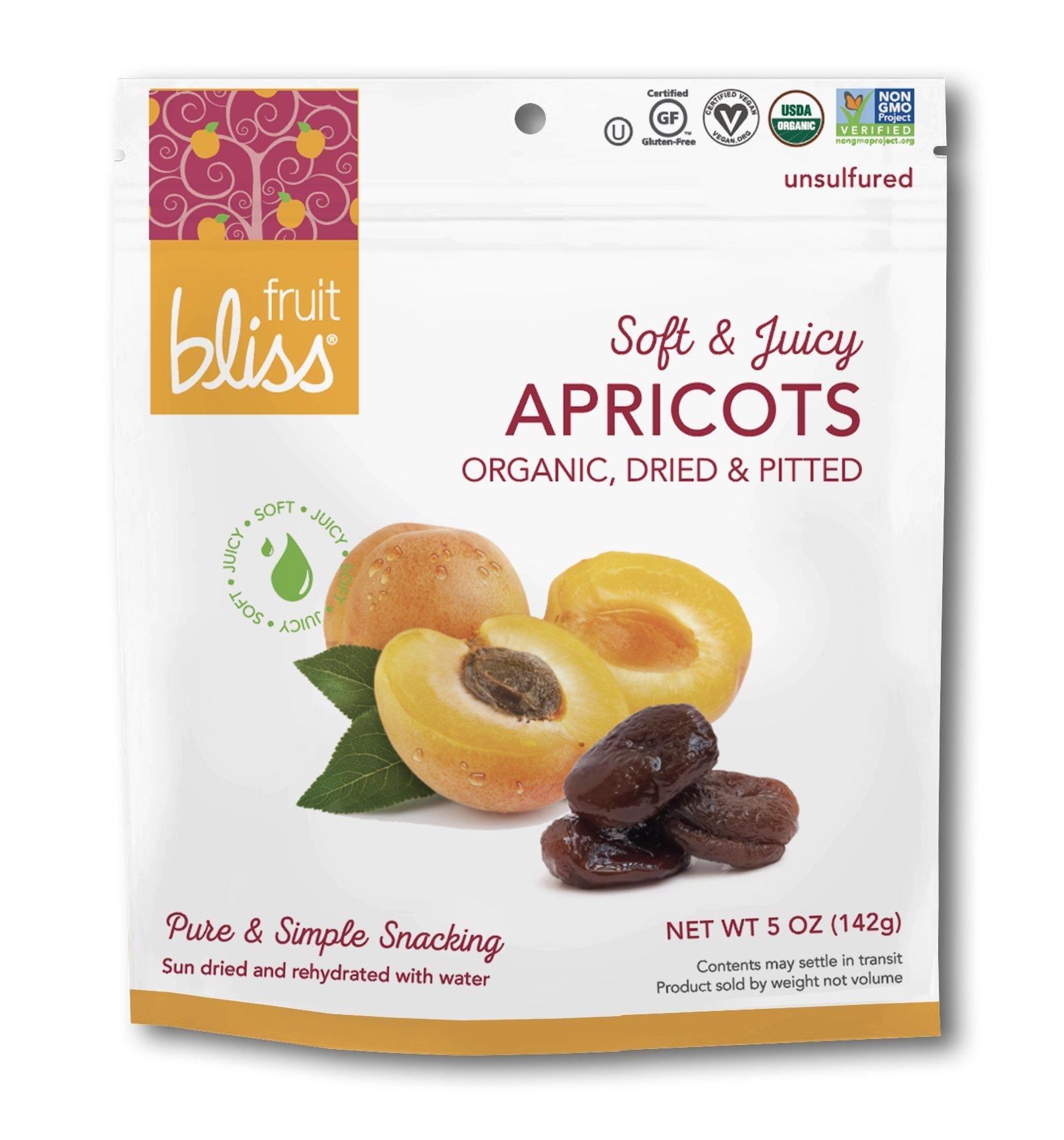 Fruit Bliss Organic Turkish Apricots 5 Oz- 3 Packs