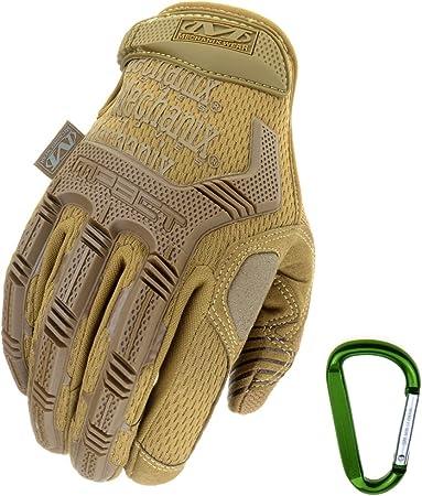 Image of Mechanix Wear + Rt Outdoor Echanix desgaste M-Pacto táctico uso de guantes, una protección óptima, transpirable mejor ajuste + mosquetón engranaje, Negro encubierta, multicámara, lobo gris, tamaño: S