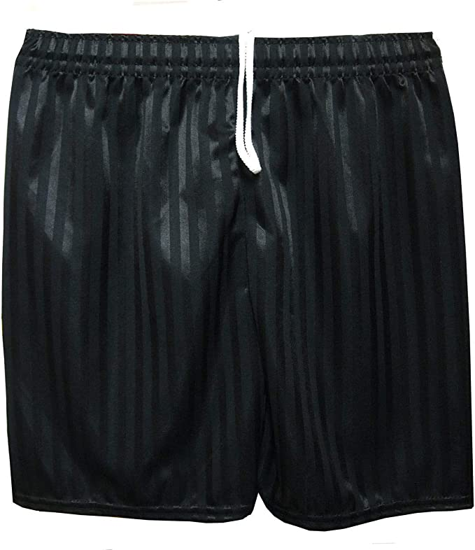 Boys Girls Children Football Shorts School Uniform Sports Stripe PE Gym Shorts