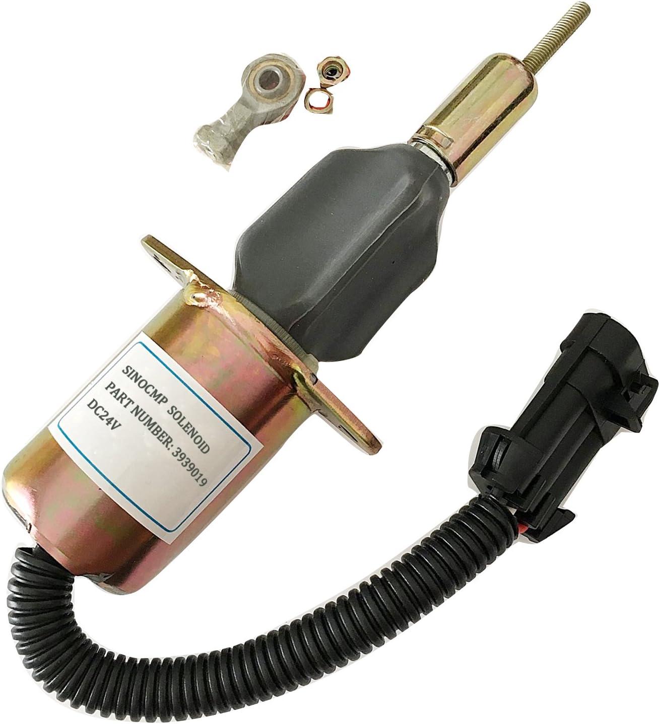 SINOCMP Flameout Solenoid Switch 3991201 for Cummins 8.1 excavator