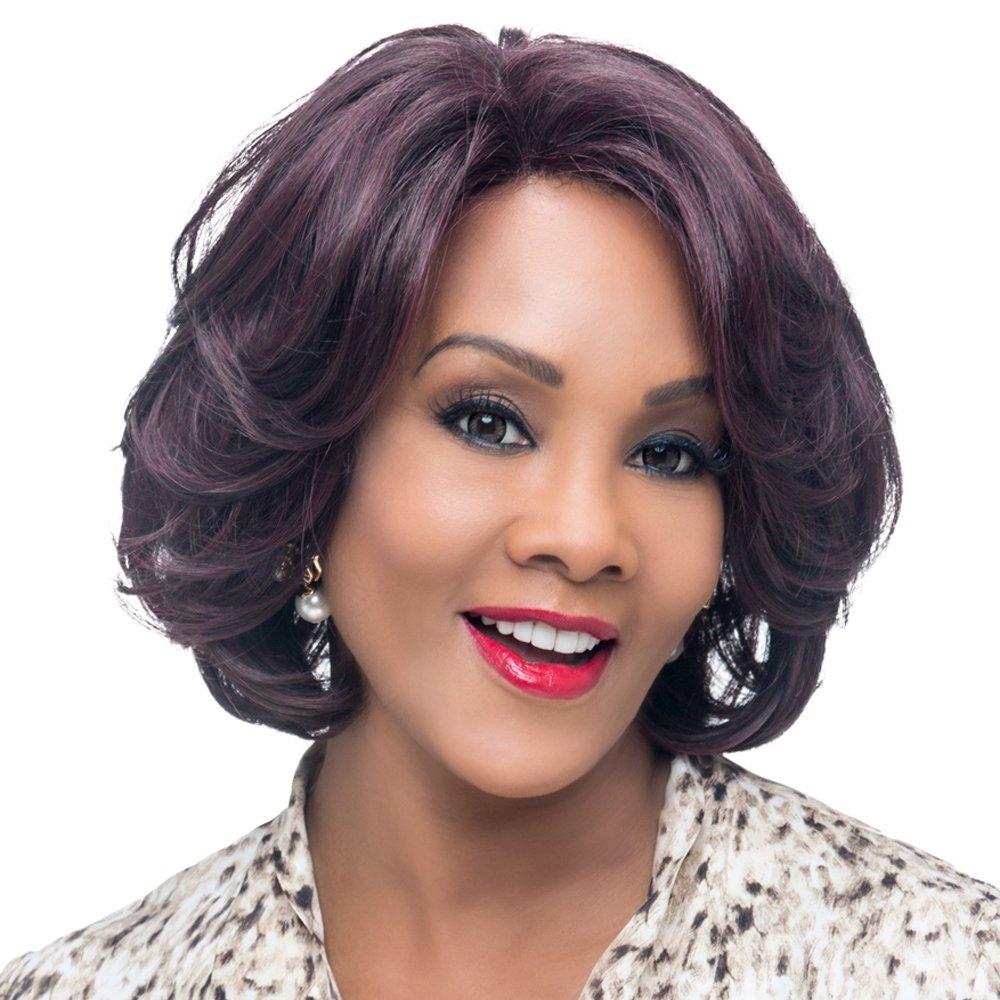 Vivica A. Fox GARDEN New Futura Fiber, Natural Baby Hair Lace Front Wig in Color 1B