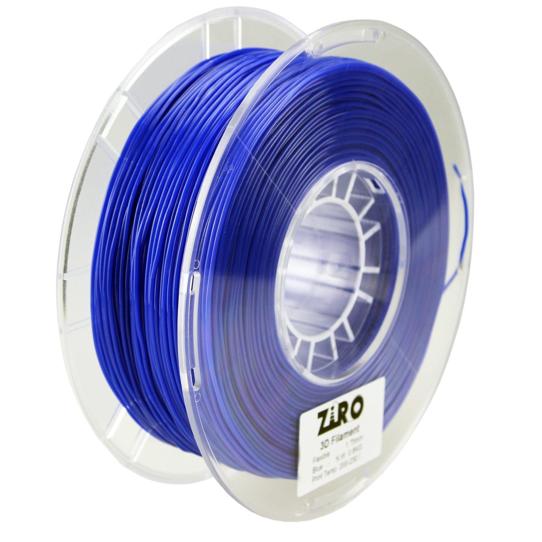 ZIRO 3D Printer Filament 1.75mm TPU Flexible Filament 0.8KG Spool, Dimensional Accuracy +/- 0.05mm, Blue