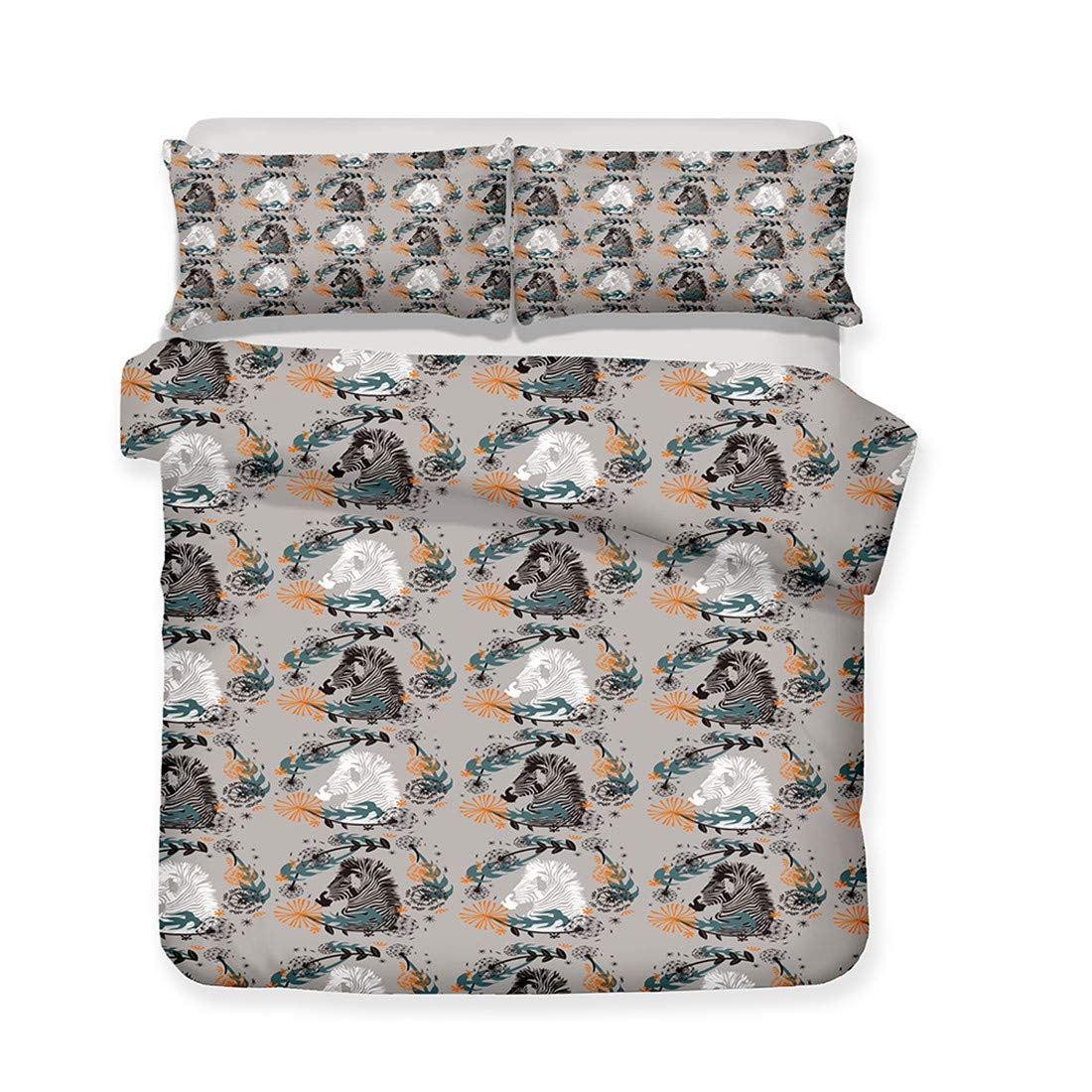 Mrsrui Twin Bedding Cover Set 3 Piece Set (1 Qulit 1 Cover + 1 Pillow Shams) Luxury Hypoallergenic Best Style for Men Women by Mrsrui