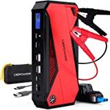 DBPOWER 800A Peak 18000mAh Portable Car Jump Starter (up to 7.2L Gas/5.5L Diesel Engine) Portable Battery Booster with LCD Sc