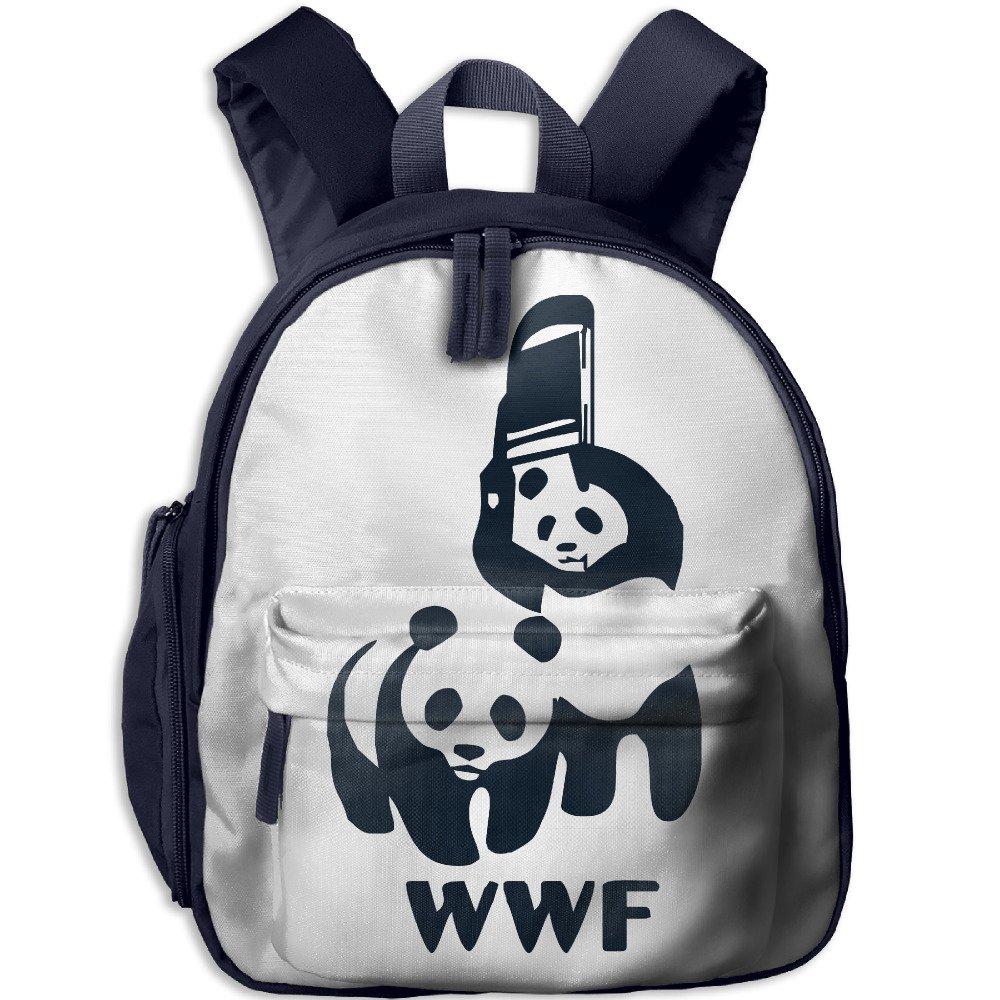 WWF Panda Bear Wrestling Toddler Shoulder Preschool Daypack With Pocket by KIDSDESIGN