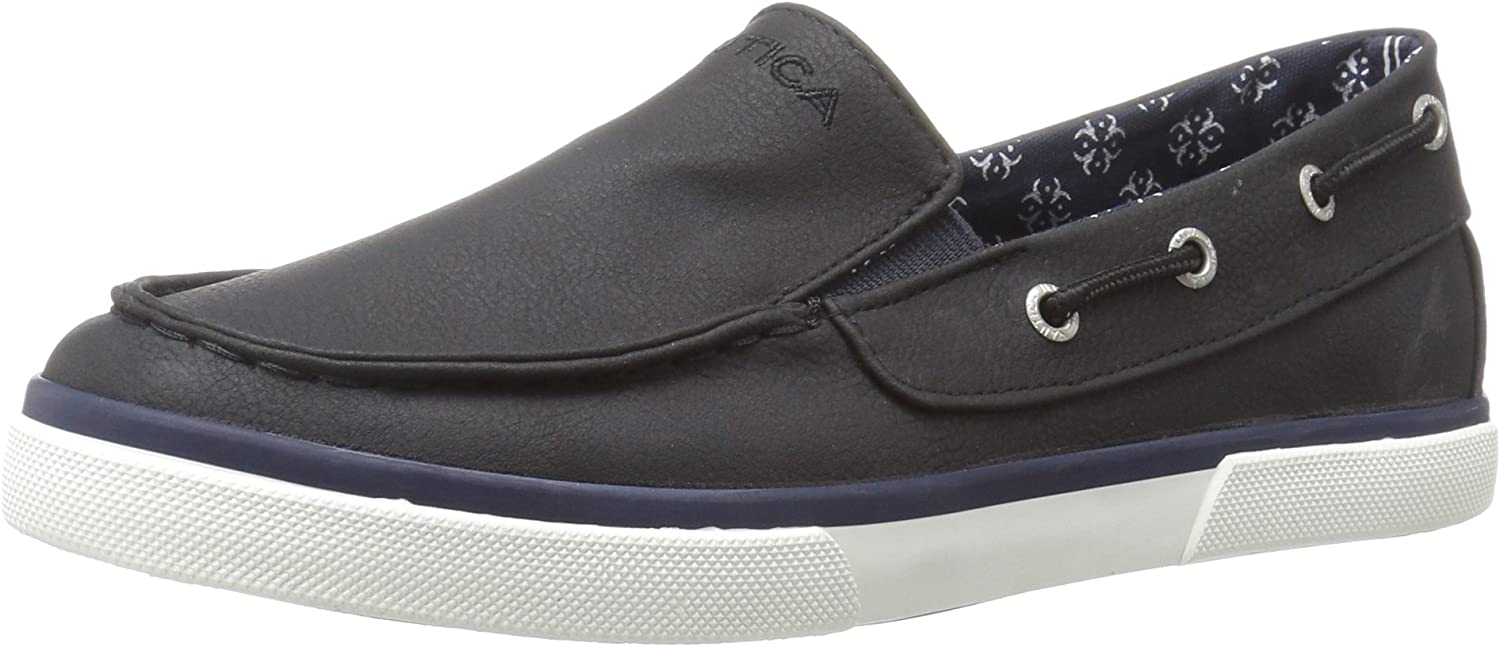 Nautica Kids Doubloon Tumbled PU Loafer Flat