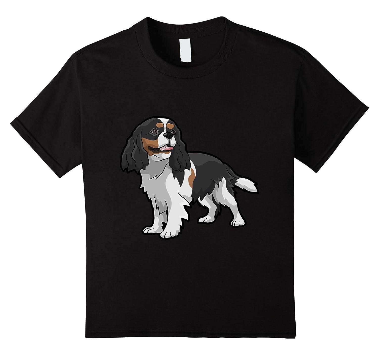 Tri Color Cavalier Charles Spaniel T Shirt-Tovacu