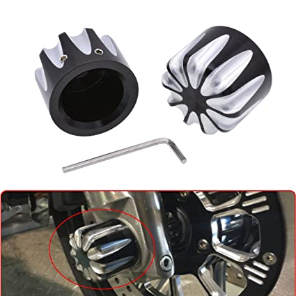 Motorcycle Cnc Axle Nut Covers For Harley Touring Flht Softail Fatboy Flstf Flstc Xl1200x Dyna Wide Glide Fat Bob Covers & Ornamental Mouldings