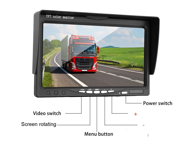 ZSMJ Wireless Backup camera Rear view Camera System 7 Display TFT Monitor Wide View Angle IP69K waterproof Night Vision for //Truck //Pickup //Van //Caravan //Trailers //Camper Dohonest 4350450781