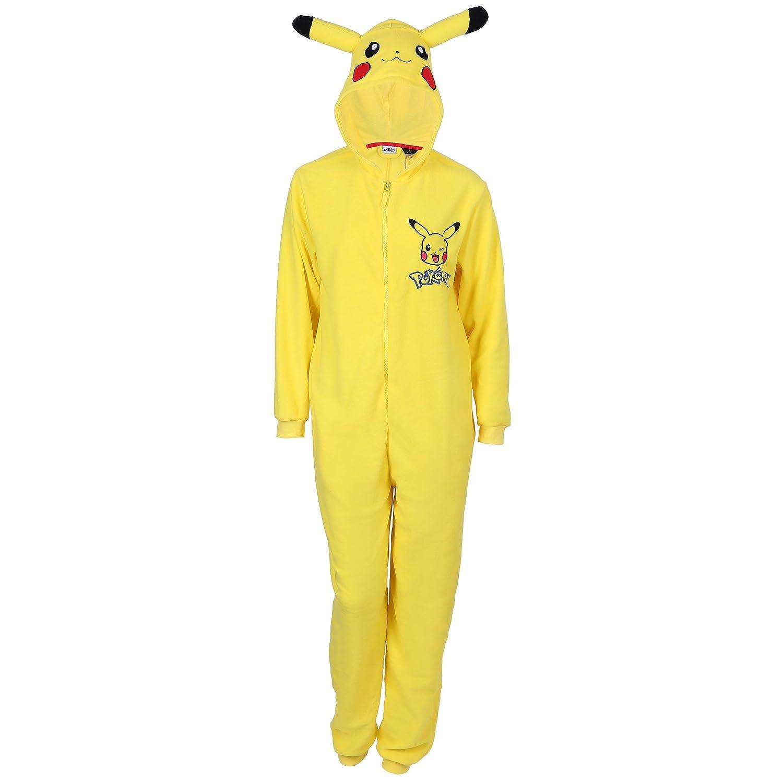 POKEMON Pikachu Ganzkörper Schlafanzug, Schlafoverall, Onesie, Einteiler
