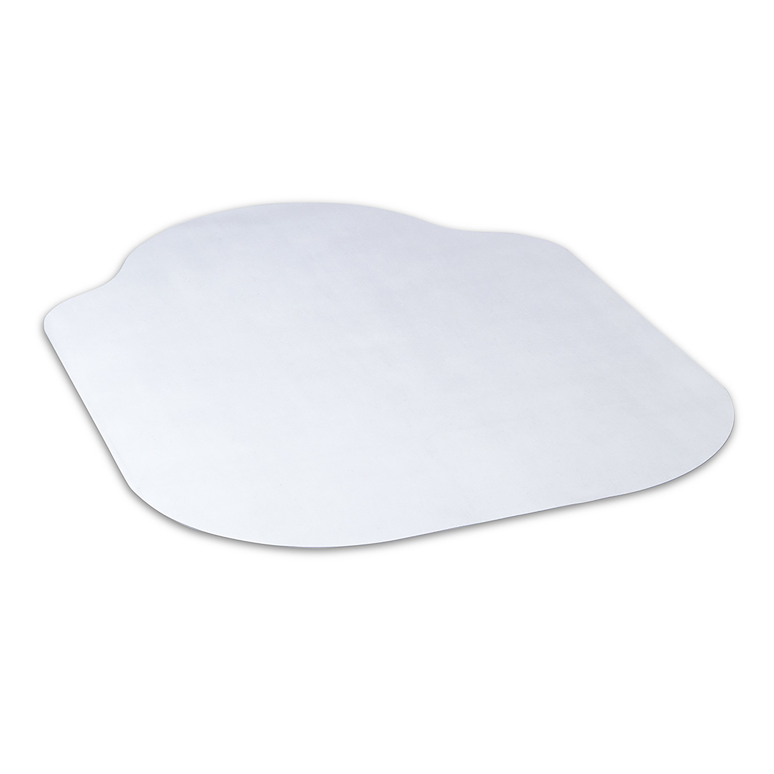 Evolve Modern Shape 42''x 56'' Clear Office Chair Mat with Lip for Hard Floor from Dimex, Phthalate Free (15D50630)
