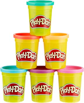 HASBRO Play-Doh c3897eu4 6 Pack Bright Colors, plastilina , color/modelo surtido: Amazon.es: Juguetes y juegos