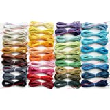 1mm Waxed Wax Cotton Cord Macrame Jewelry Bracelet String, 4 X 10-Yard Skein (PICK YOUR COLORS!)