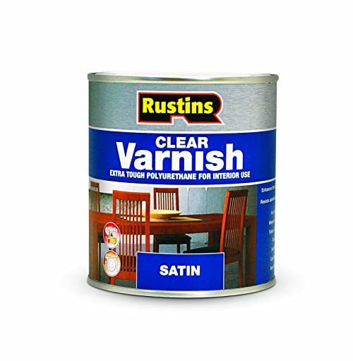 Rustins POSC250 250ml Poly Satin Varnish - Clear