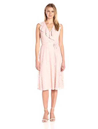 6057a21a Ivanka Trump Women's Ruffle Lace Dress at Amazon Women's Clothing store: