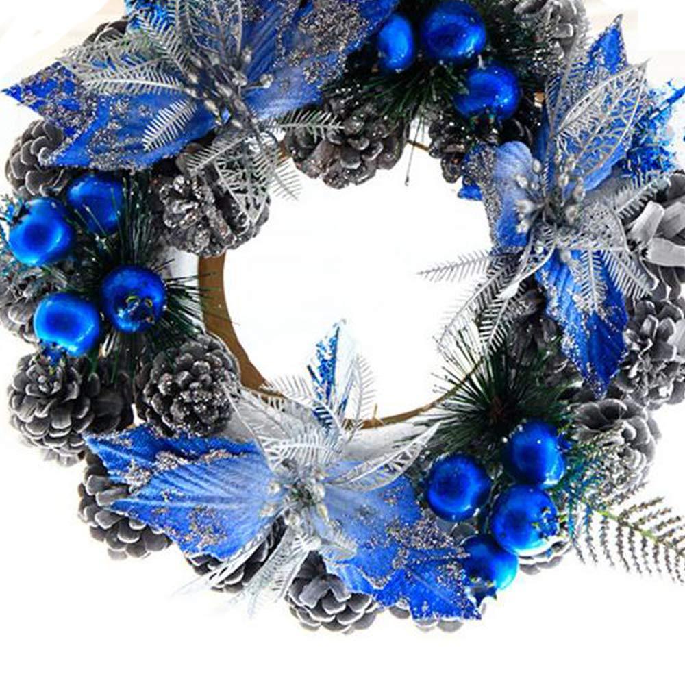 Christmas Wreath Pinecone Wreath Farmhouse Decor,Front Door Wreath,Rustic Bell Wreath,Hotel Store Xmas Tree Decor