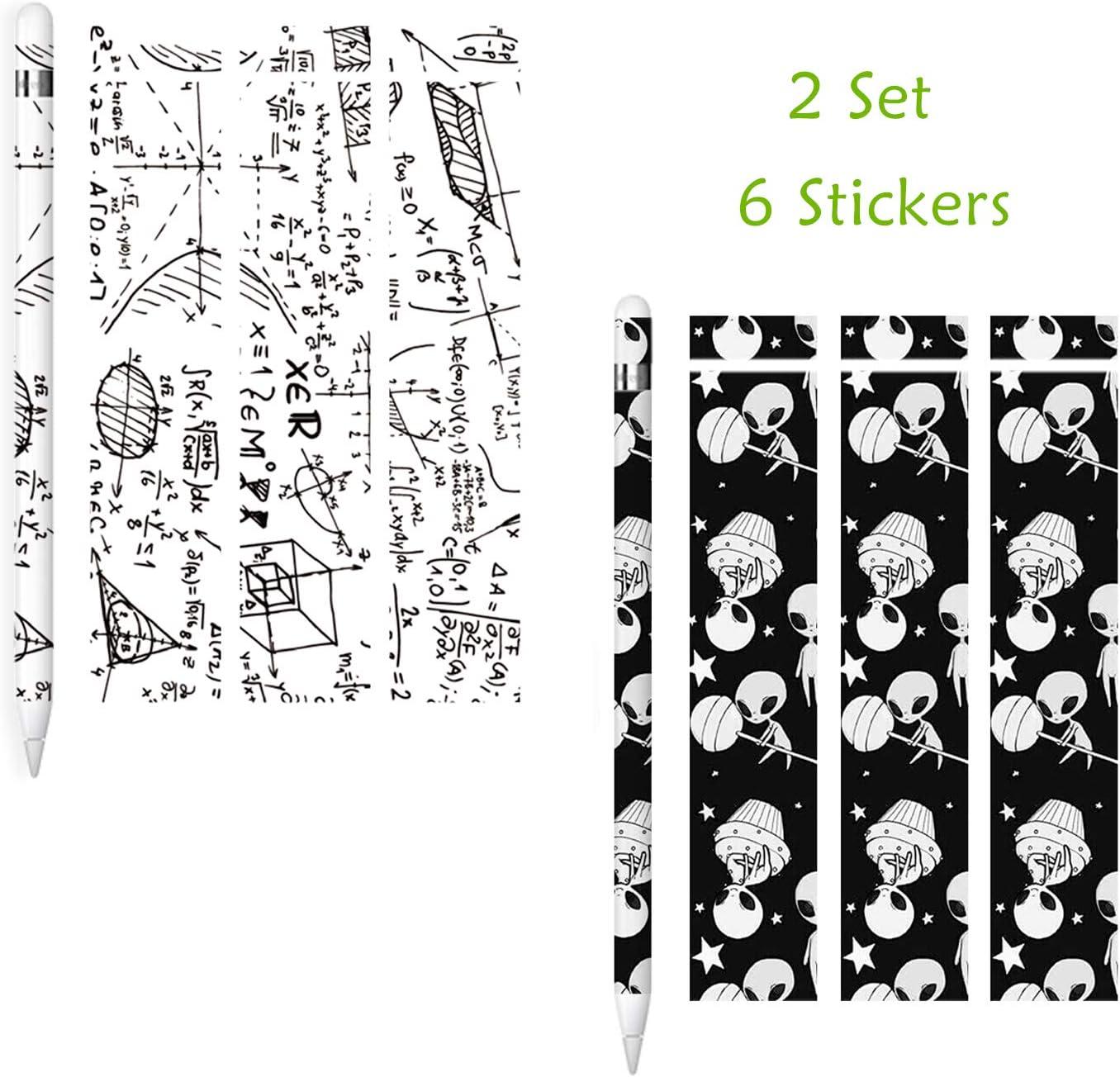Antiara/ñazos Calcoman/ía Skin Sticker para iPencil 1 Gen - Blanco /& Negro 2 Hojas // 6 calcoman/ías Adhesivo Pel/ícula Decorativo Protectora sciuU Pegatina para Apple Pencil 1ra Generaci/ón,