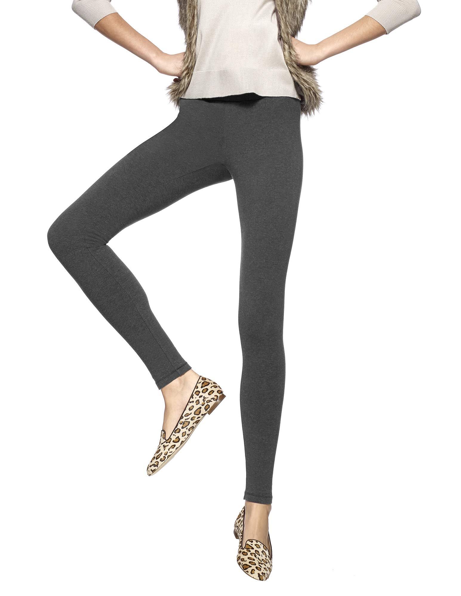 Hue Women's Ultra Legging with Wide Waistband - Medium - Graphite Heather